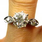 1.39CT ART DECO ANTIQUE VINTAGE DIAMOND ENGAGEMENT WEDDING RING EGL USA CERTIF