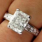 3.18CT VINTAGE ESTATE SQUARE RADIANT DIAMOND ENGAGEMENT WEDDING RING EGL USA PLA