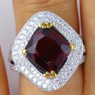 IGI 5.02CT ESTATE VINTAGE NATURAL RED SPINEL DIAMOND ENGAGEMENT WEDDING RING PLA