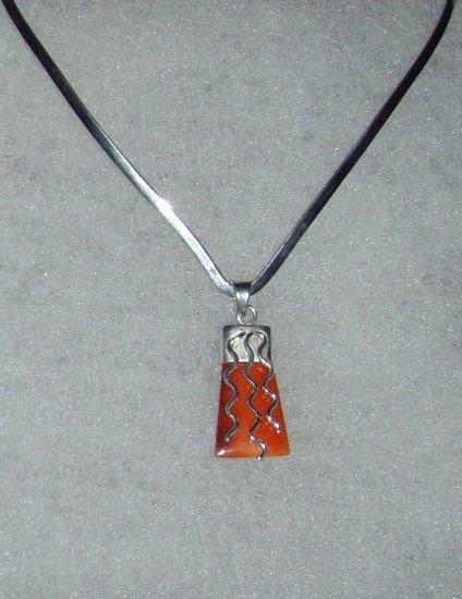 Silver .950 Spondylus Pendant from Peru