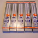 Lot 5 Osram Dulux S F13TT / 27K ,13W , 2700 K , NEW