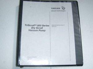Varian Triscroll 600 dry scroll vacuum pump manual
