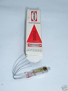 Raytheon JAN 5886 electrometer tube NEW