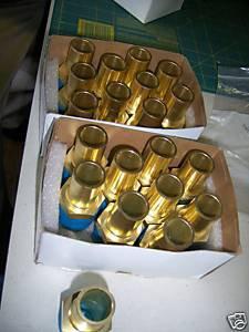 """Lot 20 Swagelok 1 """" brass tube stem"""