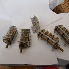Lot 5 air capacitors 3 section ECV - 5AR34 X25G