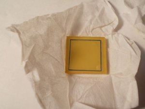 Zinc Sulfide Crystal Blanks 25mm x 25mm x .150 Thick