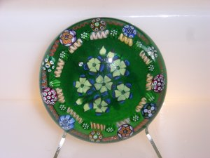 Signed Peter  Holmes  Magnum Lampwork Millefiori Paperweight