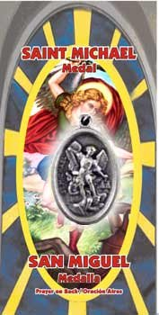 St Michael Archangel Amulet - Amuleto de San Miguel (includes prayer) -