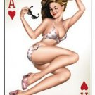 Ace of Hearts Sticker - Artwork by Michael Landefeld - Pinup Decal