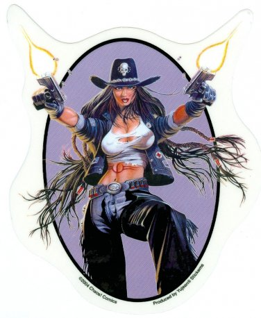 Chaos Cowgirl Decal Sticker - Art by Chaos