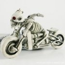 Chasing Death Skeleton on a Chopper Motorcycle Key Chain