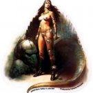 Amazon's Pet  - Warrior Princess Decal Sticker Art of Boris Vallejo HTF