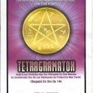 Tetragramathon - 14 gold plated coin amulet, talisman