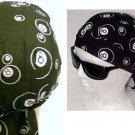 8 Ball Biker Bandana Headwrap Head Scarf - Black & White