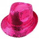 Juniors Fuchsia Pink Fedora Style Sequins Hat