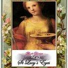 St Lucy's Eyes Amulet - Talisman y oracion a los ojos de Santa Lucia