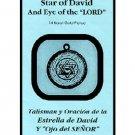 TALISMAN STAR OF DAVID & EYE OF THE LORD - Estrella de David