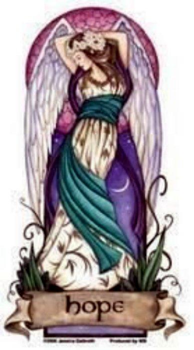 Jessica Galbreth - Angel Virtues Hope Fairy - Sticker / Decal