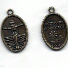 Crucified Christ Medal - Antique bronze color