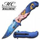 Masters Collection Ballistic Mermaid Marine Life Artwork Folding Knife
