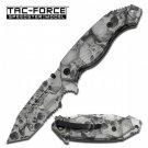 Tac Force Gray Skull Camo A/O Rescue Knife TF797GYT
