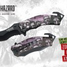 "Biohazard Zombie Survival Gear ""The Horde"" A/O Rescue Knife- Purple/Pink - YCS8381PP"