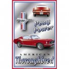 Ford Mustang Pony Power American Thoroughbred Retro Vintage Tin Sign