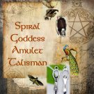 Spiral Goddess Amulet Talisman Circle Pendant - Magical charm, wicca