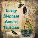 Lucky Elephant Pendant, Amulet, Talisman - Elefante para la buena suerte