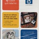 HP Custom Quilt Label Kit