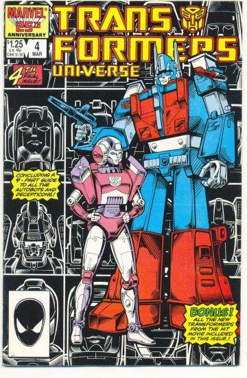 Transformers Universe #4 HTF 1987 Marvel Comic Series