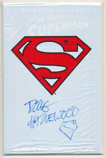 Adventures Of Superman #500 Signed Hazelwood Still Sealed
