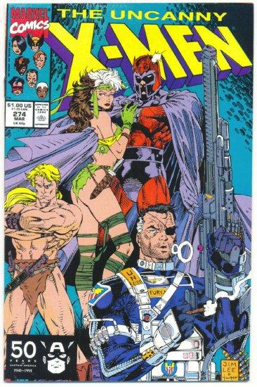 Uncanny X-Men #274 Magneto & Rogue Jim Lee Art VF/NM
