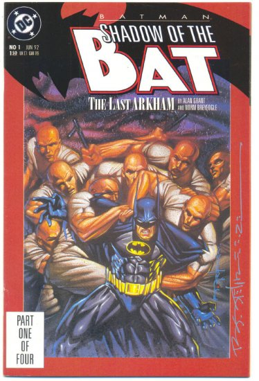Shadow Of The Bat #1 Signed Brian Stelfreeze !