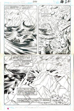 Fantastic Four #316 Pg 24 Joe Sinnott Original Art Death Of Atlantis!