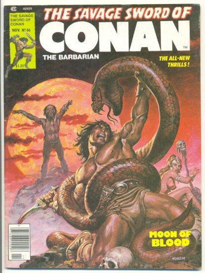 Savage Sword Of Conan #46 Moon Of Blood 1979 Classic !