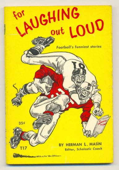 Football's Funniest Stories For Laughing Out Loud Scholastic 1964 !