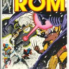 Rom #18 w/ The X-Men Against HYBRID Miller Art 1981 VF