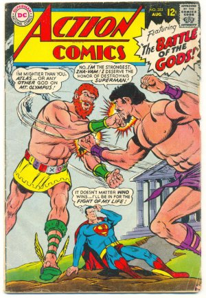 Action Comics #353 Battle Of The Gods 1967 Superman Classic !
