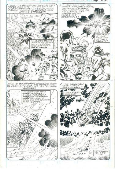 Fantastic Four #316 Pg 22 Pollard Sinnott Original Art The Celestials Attack !