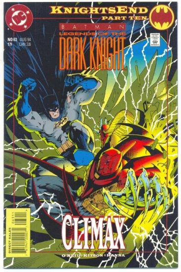 Legends Of The Dark Knight #63 Batman VFNM !