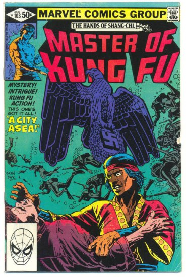 Master Of Kung Fu #103 A City At Sea Gene Day Art !