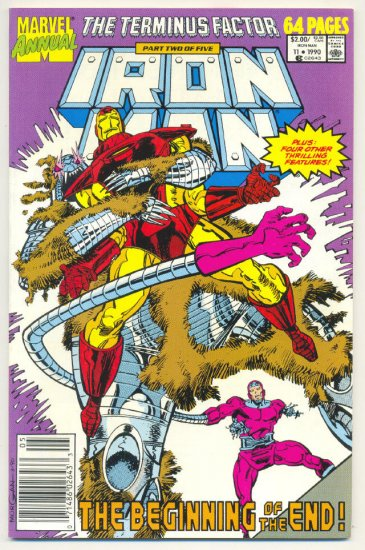 Iron Man Annual #11 Terminus Factor 1990 VFNM