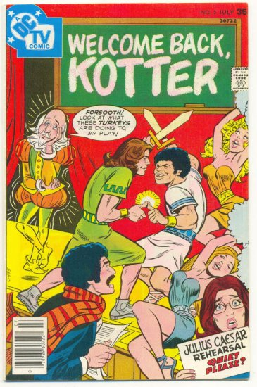 Welcome Back Kotter #5 Bronze Age TV Series Comic