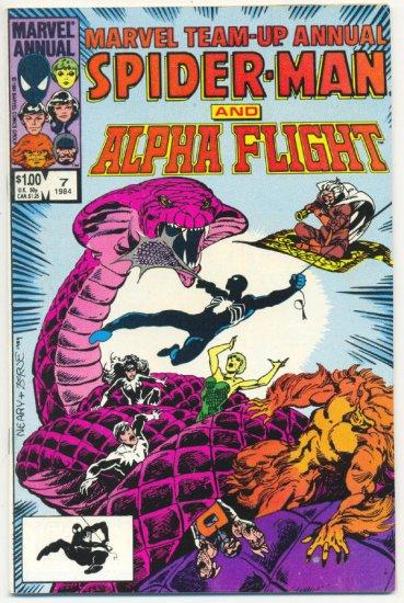 Marvel Team-Up Annual #7 1984 Byrne Art !