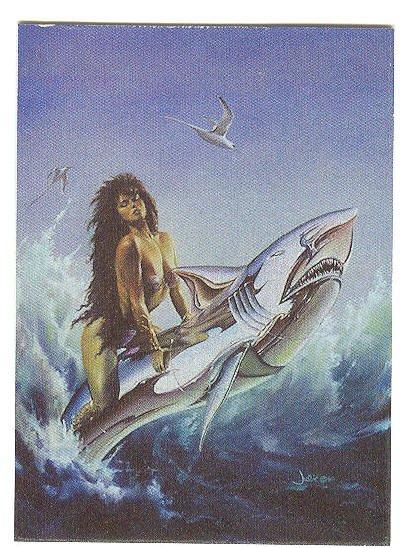 Julie Bell Techrome P2 Promo Card 1994 HTF