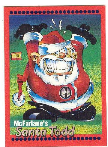 Todd McFarlane Santa Todd Spawn Promo Card 1993 HTF