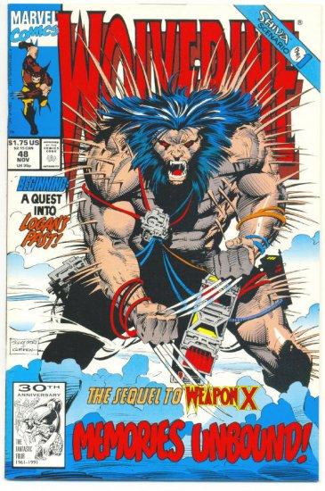 Wolverine #48 Sequel To Weapon X Silvestri art VFNM !