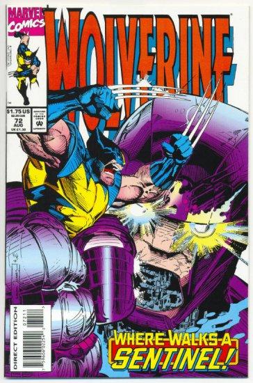 Wolverine #72 Where Walks A Sentinel!  NM
