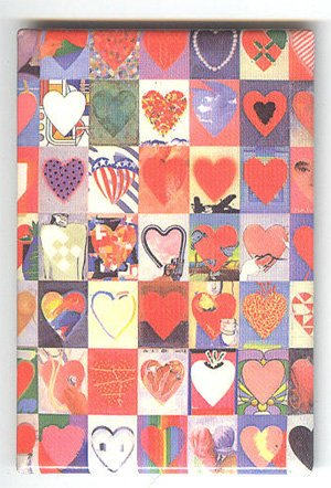 Giovanopulos Hearts fridge magnet